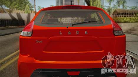 Lada X Ray для GTA San Andreas вид сзади