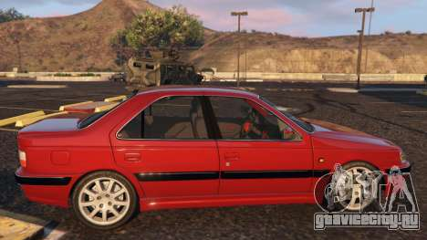 Peugeot Pars для GTA 5 вид слева
