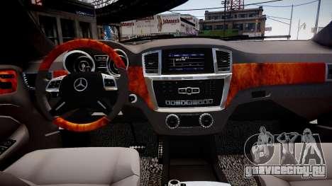 Mercedes-Benz GL63 AMG для GTA 4 вид изнутри