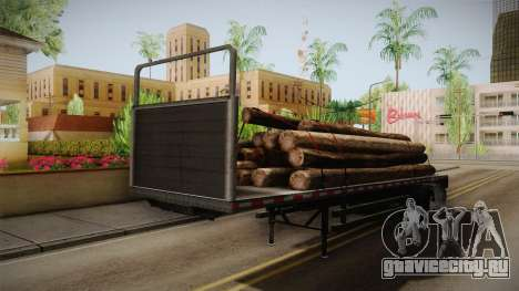 GTA 5 Log Trailer v2 IVF для GTA San Andreas вид справа