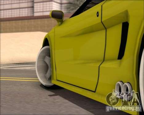 Infernus Hard Stunt для GTA San Andreas вид сзади слева