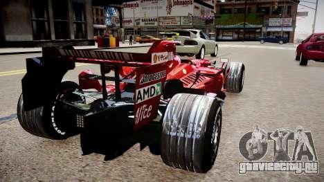 Formula 1 - LaFerrari F2007 для GTA 4 вид сзади слева