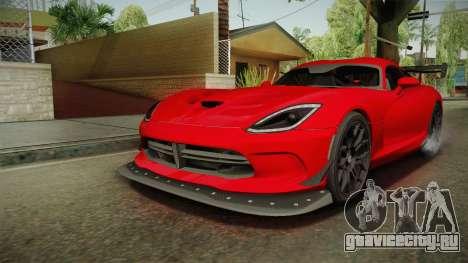 Dodge Viper ACR 2016 для GTA San Andreas