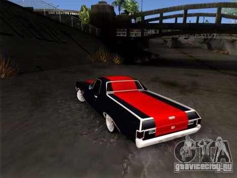 Chevrolet Camino SS 1970 для GTA San Andreas вид справа