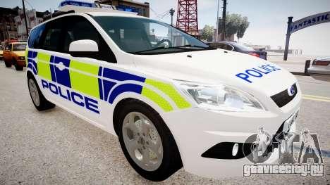Ford Focus Estate '09 police UK для GTA 4