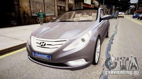 Hyundai Sonata v2 2011 для GTA 4 вид сзади слева
