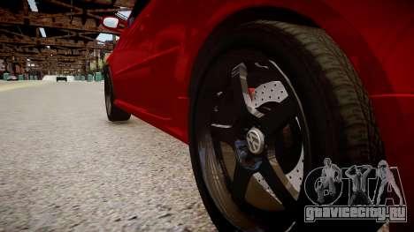 Volkswagen Golf V GTI для GTA 4 вид сзади