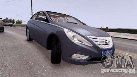 Hyundai Sonata 2011 для GTA 4 вид справа