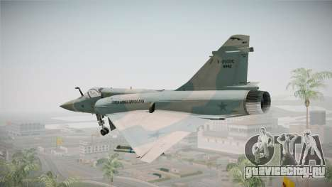 EMB Dassault Mirage 2000-C FAB для GTA San Andreas вид сзади слева