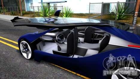 BMW Vision 3 для GTA San Andreas вид изнутри
