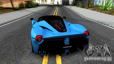 Ferrari LaFerrari для GTA San Andreas вид сзади слева