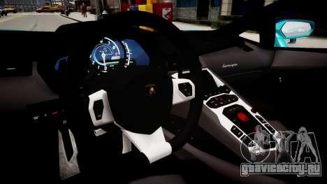 Lamborghini Aventador с флагом Казахстана для GTA 4 вид изнутри
