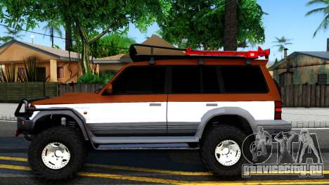 Mitsubishi Pajero Off-Road для GTA San Andreas вид слева