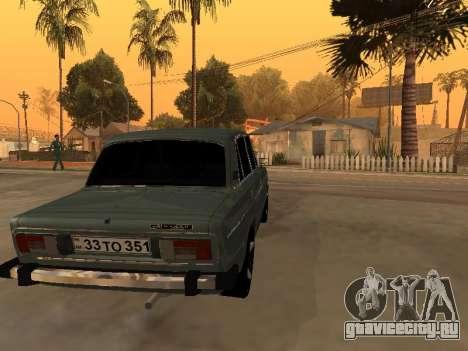 VAZ 2106 Armenian для GTA San Andreas вид справа