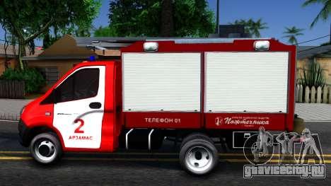Газель NEXT Пожарная для GTA San Andreas вид слева
