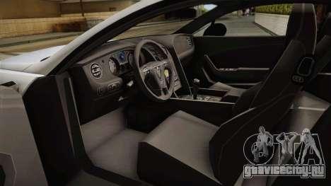 Bentley Continental GTV8S для GTA San Andreas вид справа