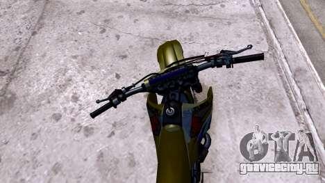 Suzuki RMZ для GTA 4 вид сзади