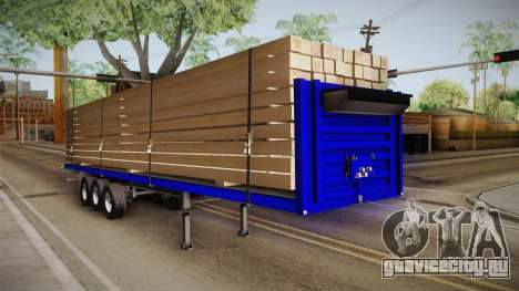 Flatbed Trailer Blue для GTA San Andreas