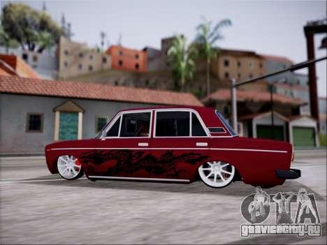 ВАЗ 2106 dragon для GTA San Andreas вид сверху
