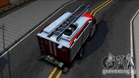 Газель NEXT Пожарная для GTA San Andreas вид сзади