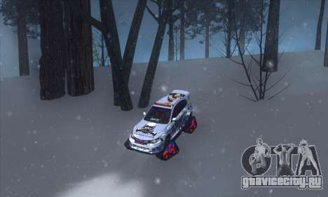 Subaru Impreza WRX STi Snow для GTA San Andreas вид справа