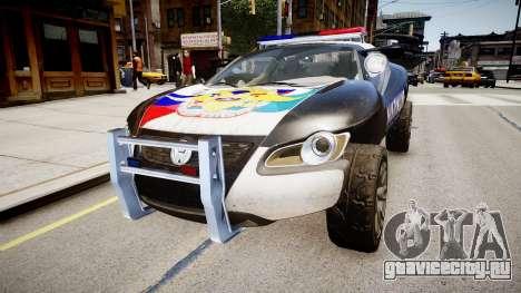 VW Concept T Police для GTA 4 вид справа