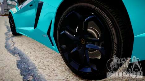 Lamborghini Aventador с флагом Казахстана для GTA 4 вид сзади
