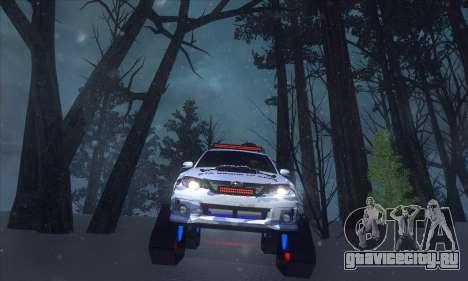 Subaru Impreza WRX STi Snow для GTA San Andreas вид сзади