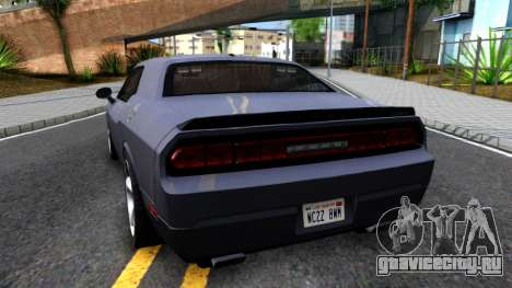 Dodge Challenger Unmarked 2010 для GTA San Andreas вид сзади слева
