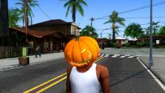 Pumpkin Mask Celebrating Halloween для GTA San Andreas