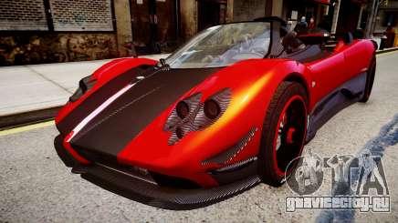 Pagani Zonda Cinque Roadster красный для GTA 4
