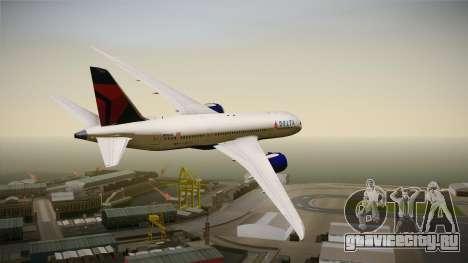 Boeing 787-8 Delta Airlines для GTA San Andreas вид слева