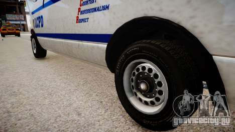 LCPD Declasse Burrito Police Transporter для GTA 4 вид сзади