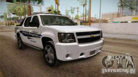 Chevrolet Avalanche 2008 Emergency Management для GTA San Andreas