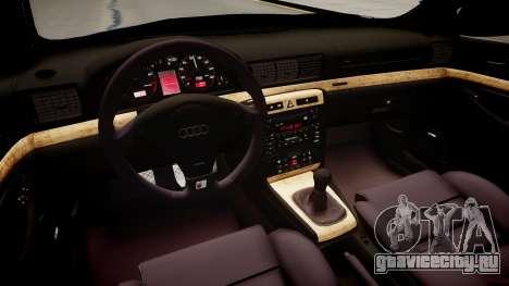 Audi S4 Widebody для GTA 4 вид изнутри