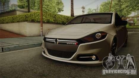 Dodge Dart 2017 для GTA San Andreas вид справа