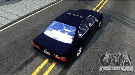 BMW E34 535i для GTA San Andreas вид сзади