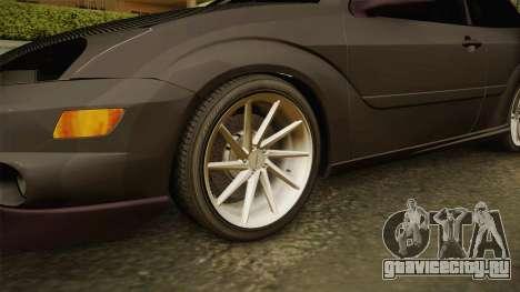 Ford Focus SVT CTG для GTA San Andreas вид сзади