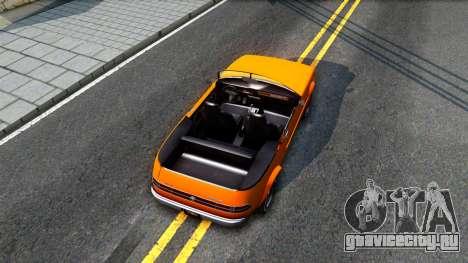 GTA V Declasse Rhapsody Cabrio Style для GTA San Andreas вид сзади