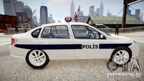Renault Clio Symbol Police 2011 для GTA 4 вид слева