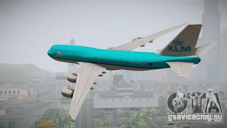 Boeing 747-8i KLM для GTA San Andreas вид слева