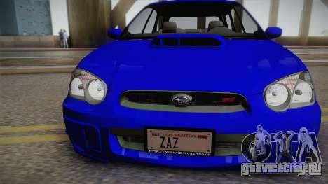 Subaru Impreza Wagon 2004 для GTA San Andreas вид справа