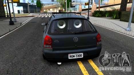 Volkswagen Gol G4 для GTA San Andreas вид сзади слева