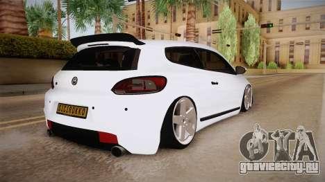 Volkswagen Scirocco Stance Works для GTA San Andreas вид сзади слева