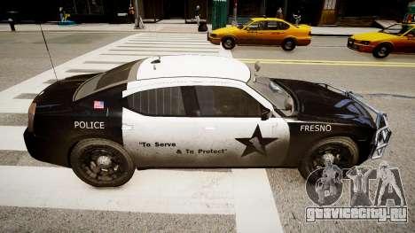 Dodge Charger Police для GTA 4 вид слева