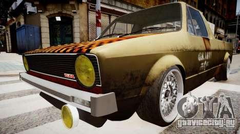 Volkswagen Caddy US Army для GTA 4 вид справа