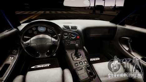 Mazda RX-7 APEXi для GTA 4 вид изнутри