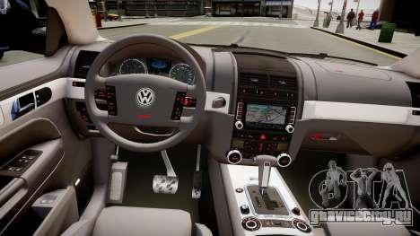 Volkswagen Touareg R50 для GTA 4 вид изнутри