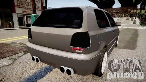Volkswagen Golf 3 GTI для GTA 4 вид сзади слева