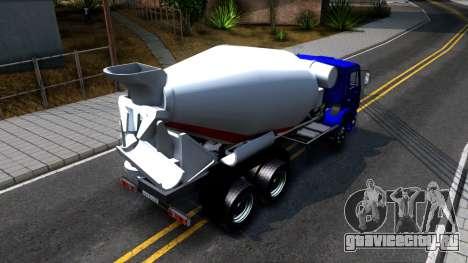 КамАЗ 65115 Автобетоносмеситель для GTA San Andreas вид сзади
